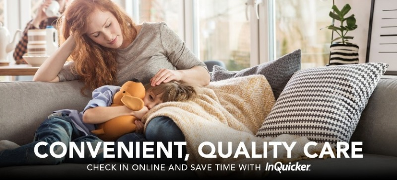 convenient quality care. check in online and save time with In Quicker